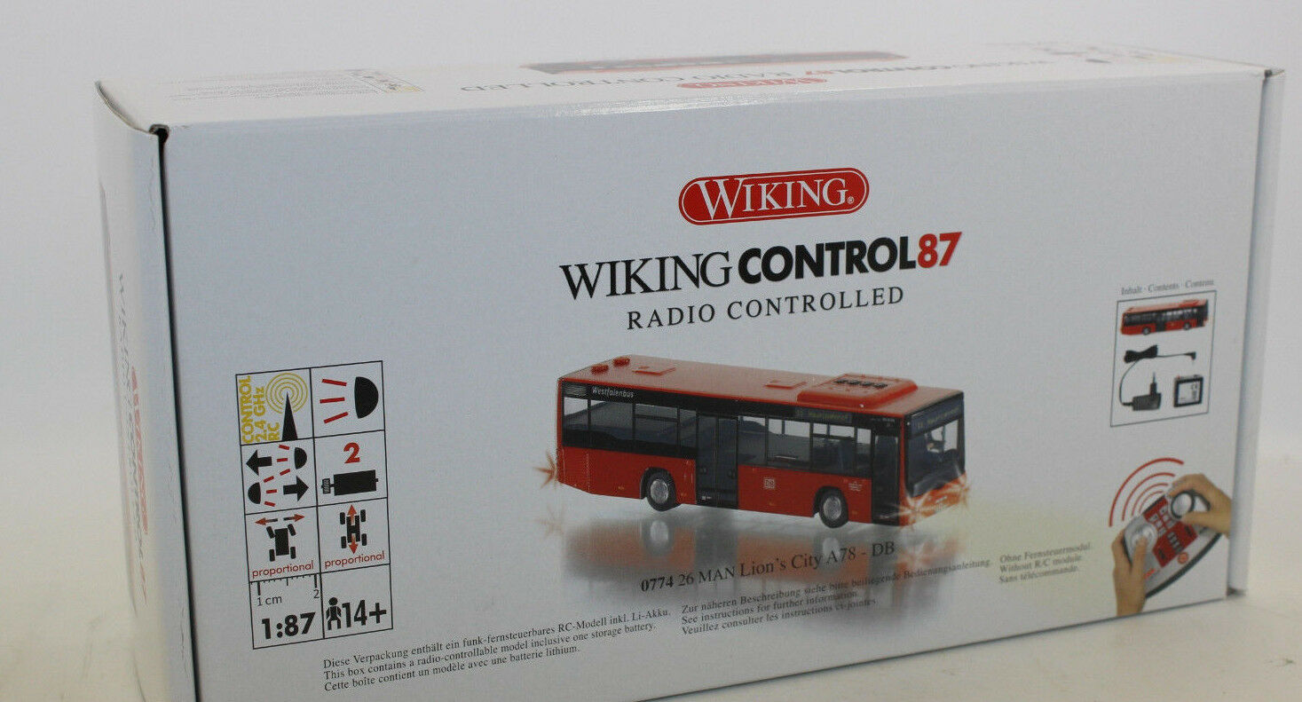 Wiking 774 26 control on Lion 's 's 's City Bus 1 87 h0 rc nouveau en OVP a736db