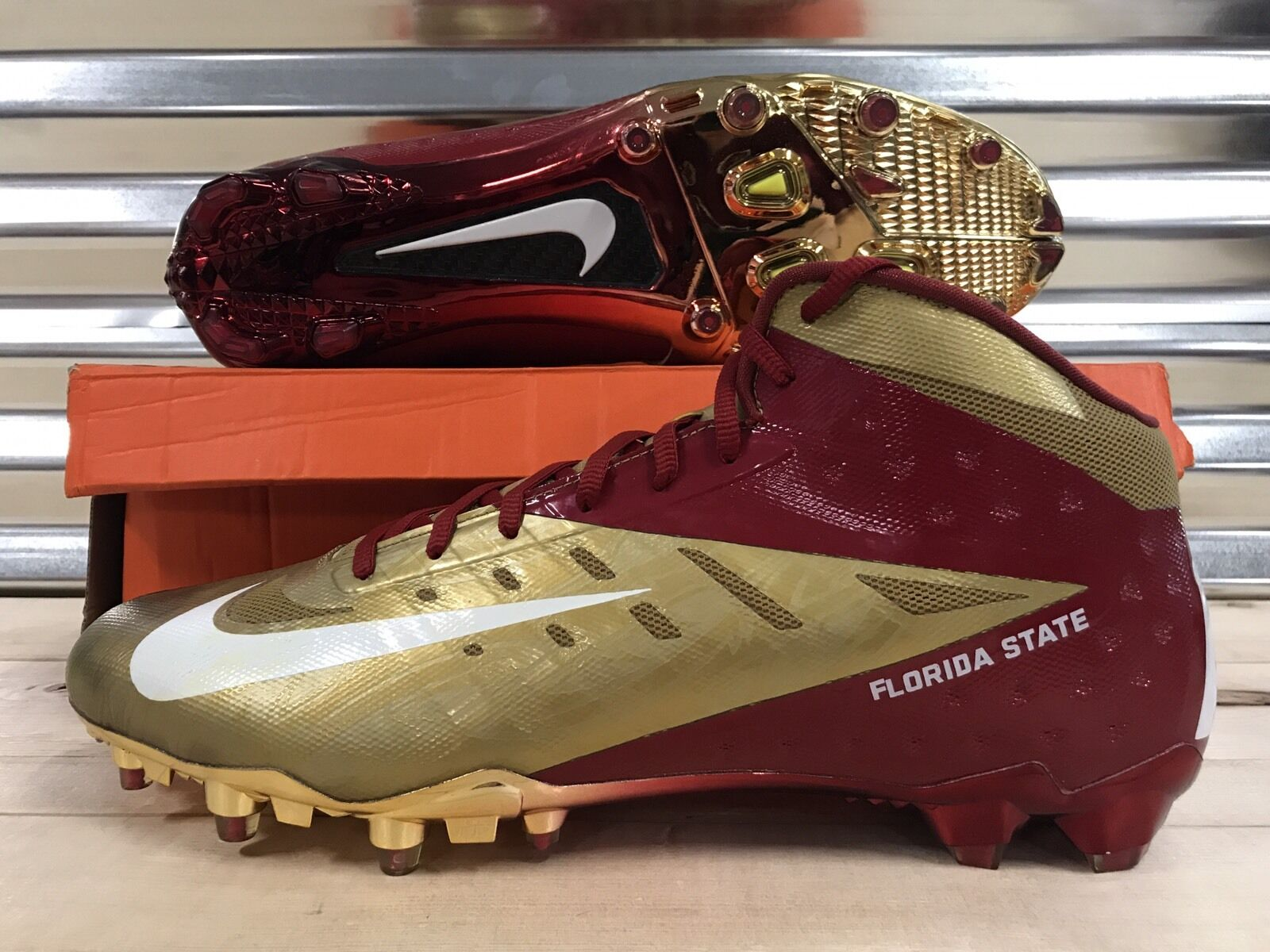 Nike Vapor Talon Elite 3/4 Football Florida State Seminoles FSU Football 3/4 Cleats PE SZ 15 15ec14