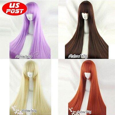 Lolita 100CM Long Straight Synthetic Hair Women Fashion Cosplay Wig + Wig Cap
