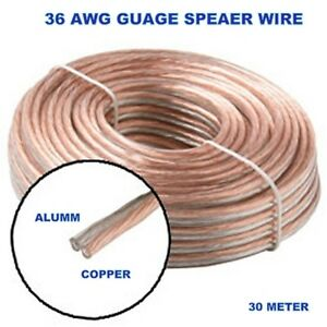 23 AWG Speaker Wire 60 Meter Bundle For 5.1, 7.1 Home Theater Music ...