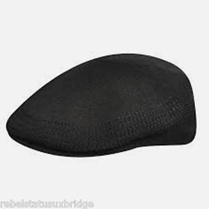 cf66a19d765 KANGOL Hat 504 Tropic Ventair Flat Cap 0290BC Summer Black Sizes  S ...