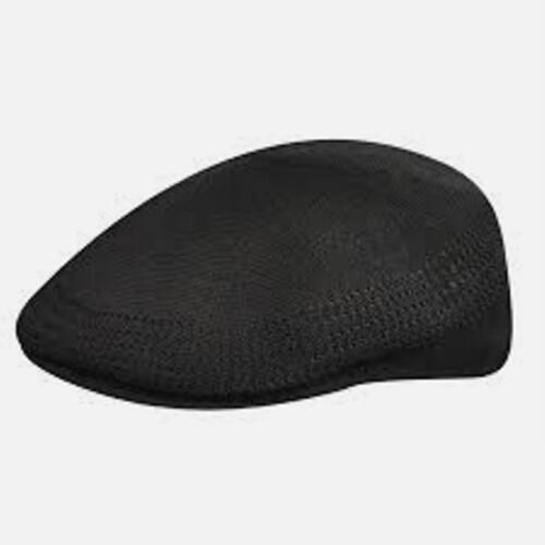 XL KANGOL Hat 504 Tropic Ventair Flat Cap 0290BC Summer Black Sizes S