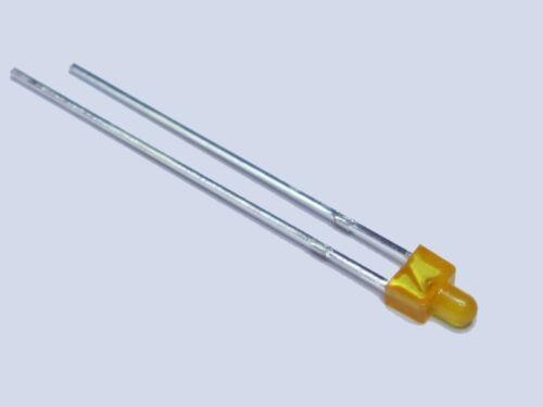 S013-20 Stück LEDs 2mm kurz ORANGE diffus amber