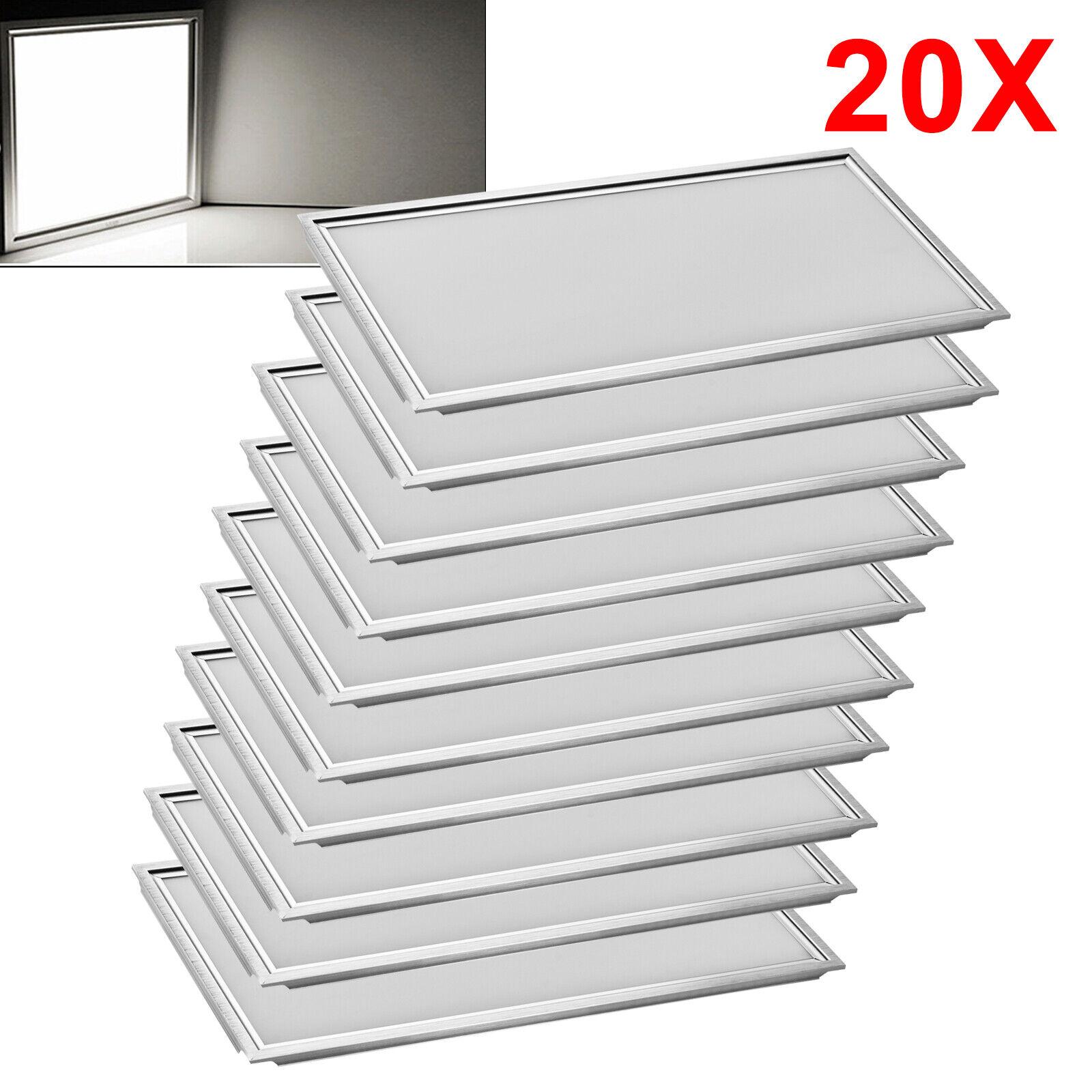 20x LED Panel ultra slim neutral blancoo plafón instalación lámpara emisor 60x30cm
