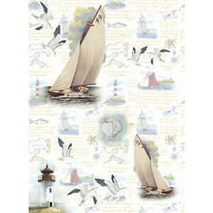 Russia The Cheapest Price Rice Paper For Decoupage Sea Seagulls 11.1 X 15.11 Inches Yacht