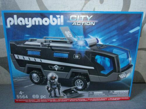 Playmobil City Action 5564 SEK-Einsatztruck mit Licht und Sound Neu /& OVP