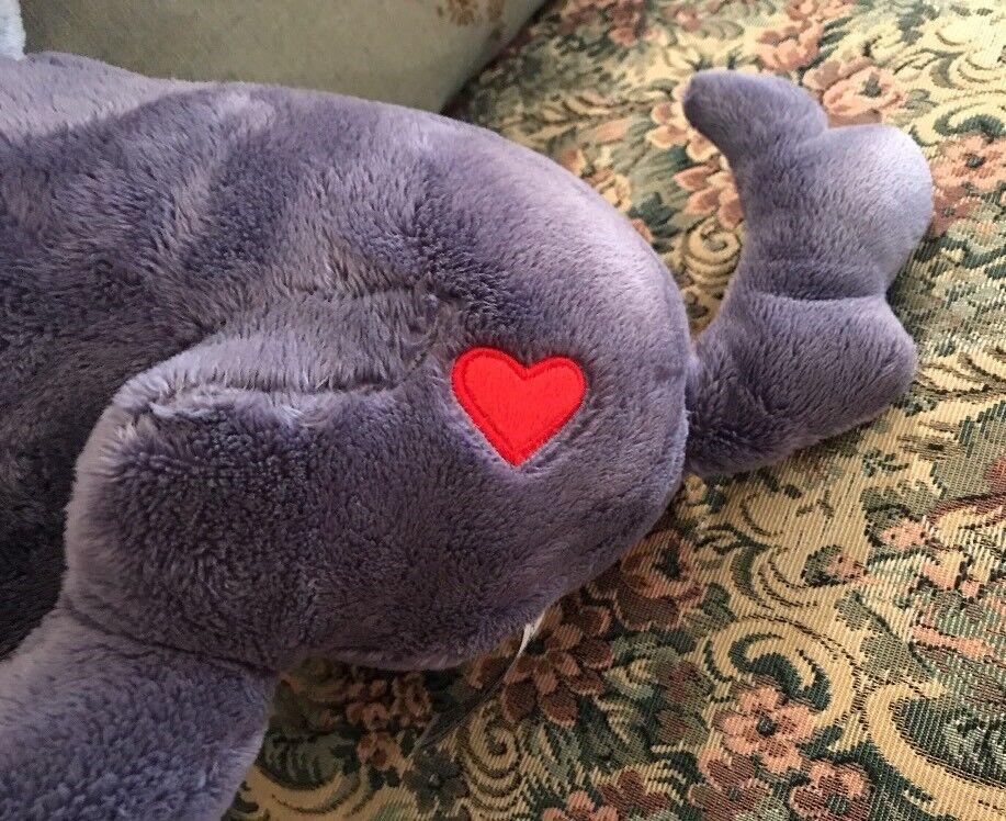 RARE Woezel en Pip Blau lila Big PUPPY DOG HTF  Plush Stuffed Animal 15