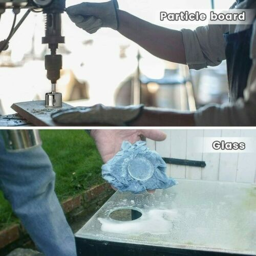 10pc Diamond Hole Saw Kit 6-30mm Grit Drill Bits Set for Glass Ceramic Tile