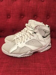Details about Men's Nike Air Jordan 7 PURE MONEY PLATINUM WHITE SILVER  304775-120 Size 10