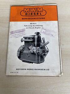 MWM KD 412 V Motor Betriebsanleitung - Untermünkheim, Deutschland - MWM KD 412 V Motor Betriebsanleitung - Untermünkheim, Deutschland