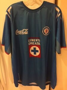 6cb2acacd16 Cruz Azul Cemento Coke Liga MX Soccer Football Fútbol Jersey Mens ...