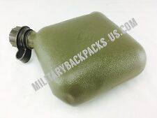 US Military Issued 2 Quart Water Canteen Hydration Bottle Green Collapsible Hike