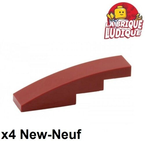 Lego 4x Slope curved pente courbe 4x1 rouge foncé//dark red 61678 NEUF