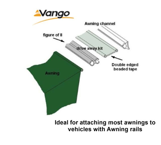 Vango Driveaway kit for 4mm & 6mm Rails 3m Set