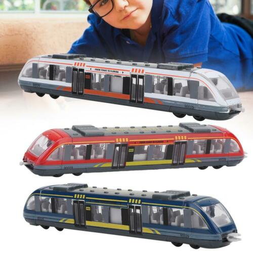 High Simulation Alloy Train Model Car Pulling Back Kids Birthday Gift
