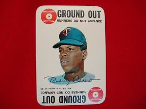 """1968 TOPPS BASEBALL CARD GAME - RODNEY (ROD) CAREW - """"GROUND OUT"""" CARD #29 OF 33"""
