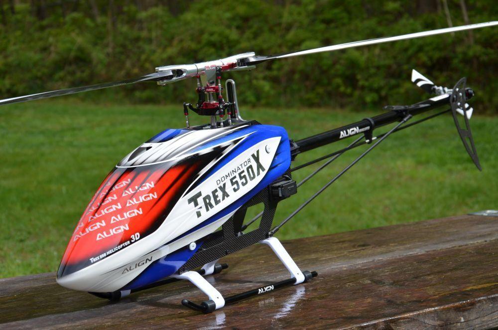 Align T Rex 550X Dominator RTF Helicopter+Autopilot Axon + Futaba T14SG
