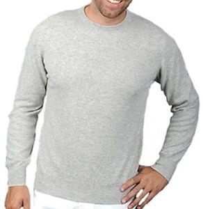grigio Pullover chiaro in 100 uomo da cashmere Xxxl cashmere girocollo girocollo xqwUFf