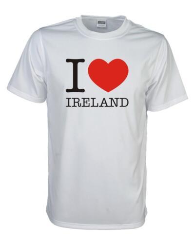WMS11-27 Länder Fanshirt Loveshirt S-5XL I love IRLAND T-Shirt
