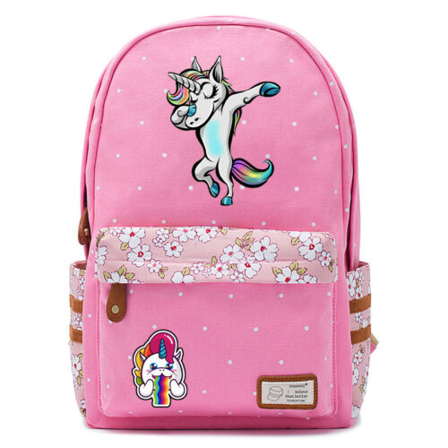 Dabbing unicorn Dab Cute horse backpack Rucksack school book bag For Girls