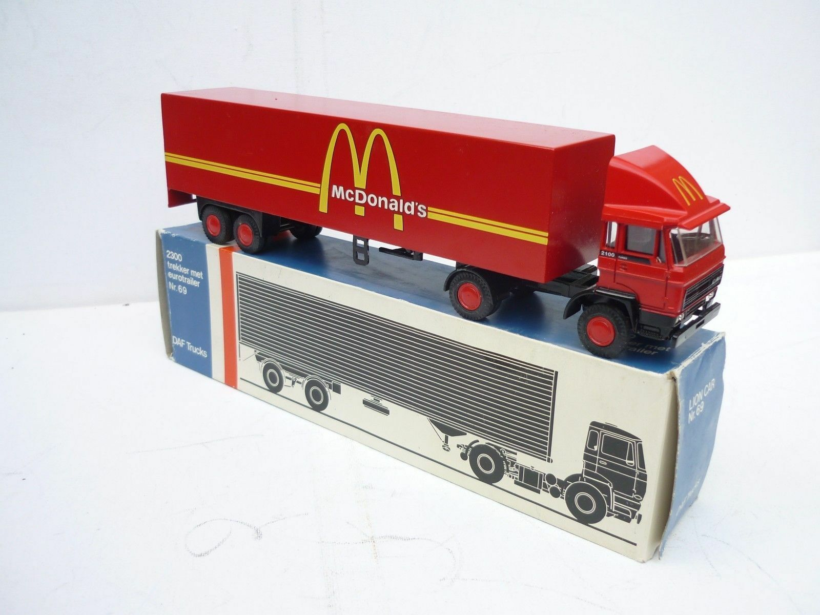 LION CAR 1 50 DAF 2100 TURBO MAC DONALDS VINTAGE DELYVERY TRUCK RARE SELTEN MB