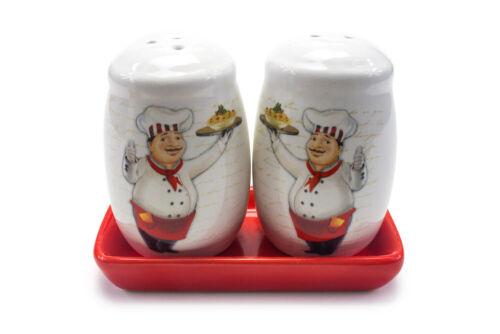 Aus KeramikSalz und Pfefferstreuer mit UntertellerPfeffer SalzDeko