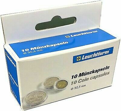 Pack 100 Lighthouse Clear Deluxe Semi Rigid 2x2 Coin Pockets acid free holders