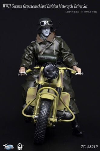 "Toys City 1//6 Scale 12/"" WWII German Motorcycle Driver Grossdeutschland Set 68010"