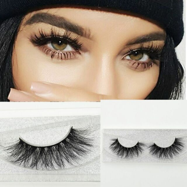 Luxurious 100% Real Mink Women Cross Thick Long False Eyelashes 3D Eye Lashes