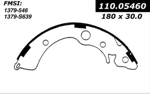 546 FITS VEHICLES ON CHART BRAND NEW BENDIX GLOBAL REAR BRAKE SHOES RS546