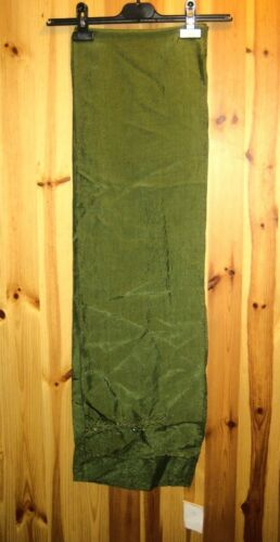 Long wide shawl style scarf with embroidery and beads