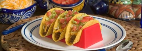 4 Colors Blue Taco Shell Holder Red Holds 3 Tacos Black White Taco Holder