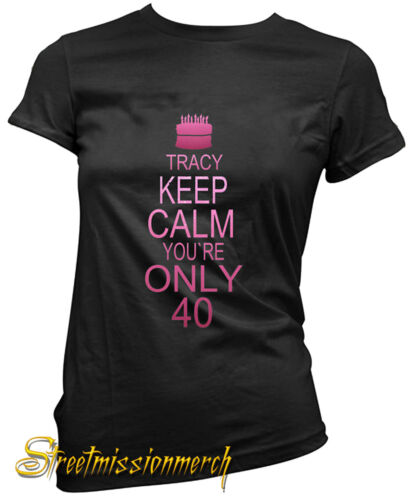 40th BIRTHDAY,PERSONALISED LADIES T SHIRT,GIFT CELEBRATION,all sizes  available