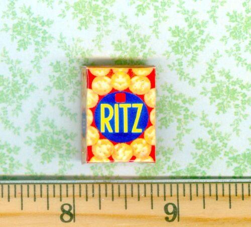 Dollhouse Miniature size Round Butter Cracker Box # R C