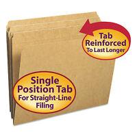 Smead Kraft File Folders Straight Cut Reinforced Top Tab Letter Kraft 100/box on sale