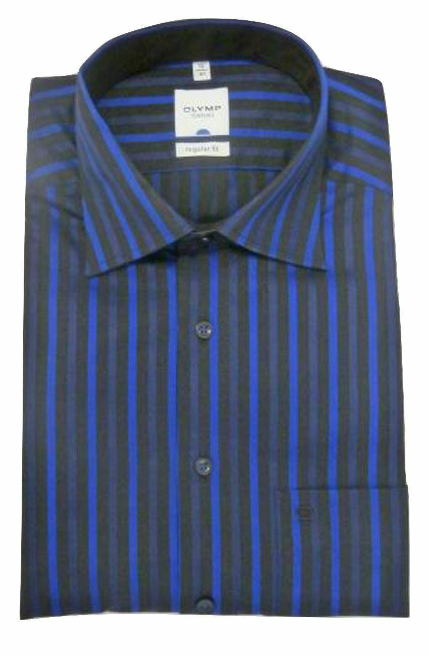 Royal-Black Stripe Spread Collar
