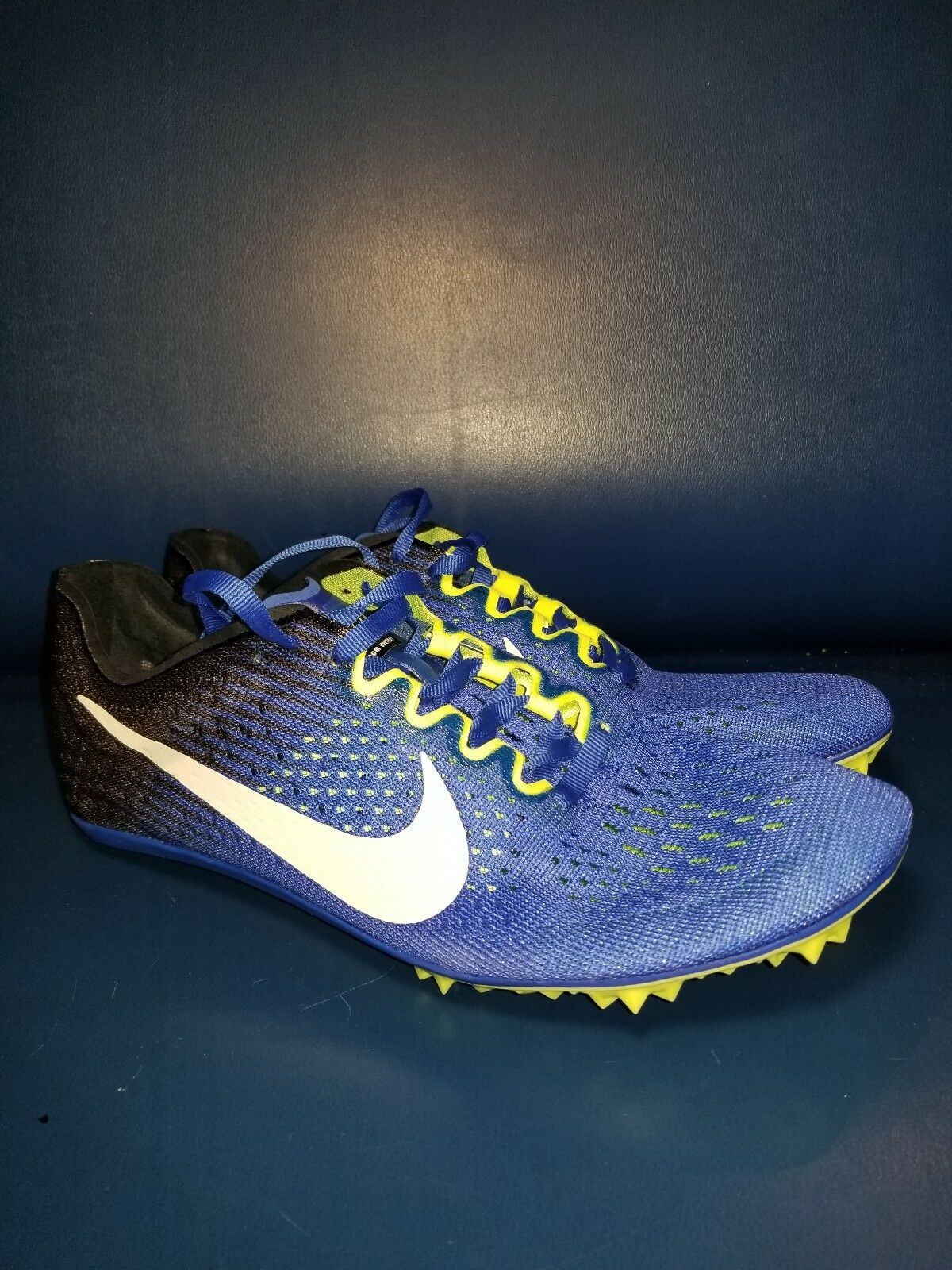 Nike Zoom Victory 3 Track Running Spikes bluee Volt White Black SZ 7.5 835997-413
