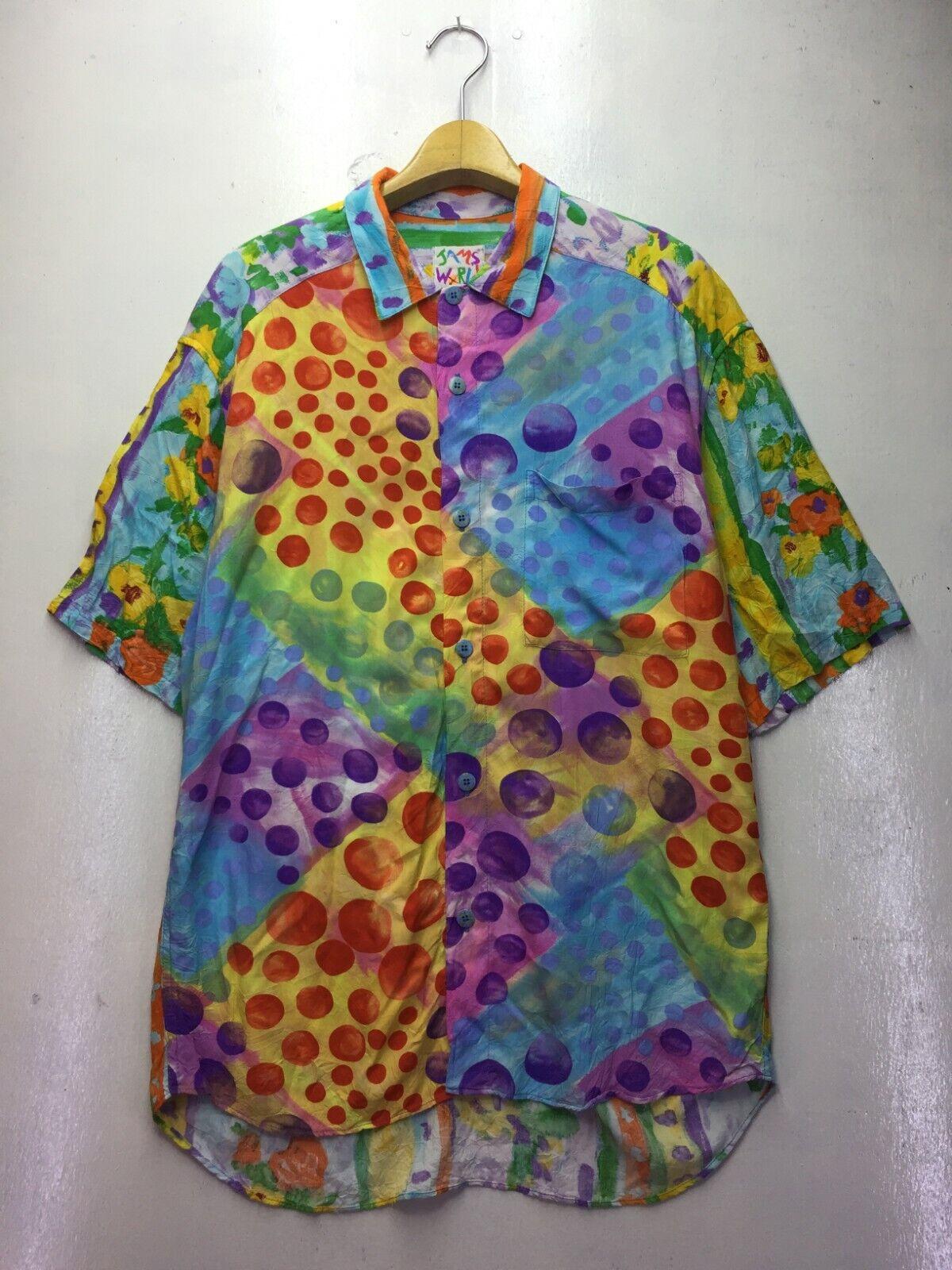 Vintage Jams World Bubble Hawaiian Shirt