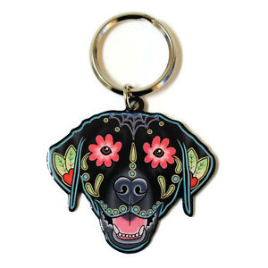 Black-Labrador-Dog-Metal-Key-Ring-Keyring-Cali-Pretty-in-Ink