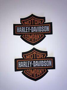 2-x-Harley-Davidson-Patch-Aufnaher-Skull-Biker-Motorrad-Patches-Set-Aufbugler