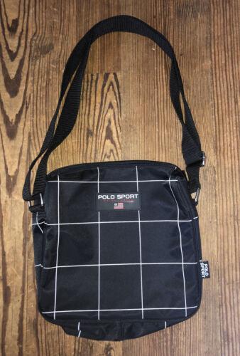 Vintage Polo Sport Shoulder Bag Black