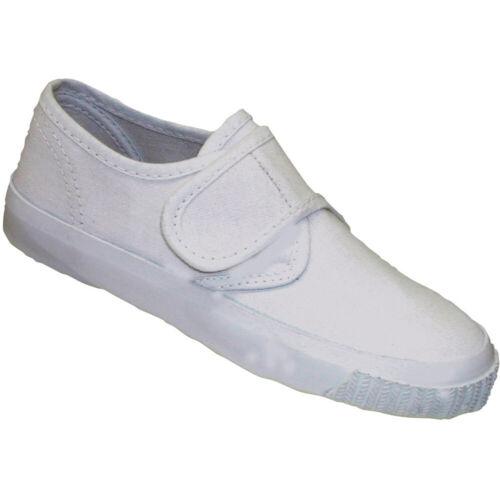Mirak Girls 99248 Fastening Plimsoll Sneaker Trainer White Lge
