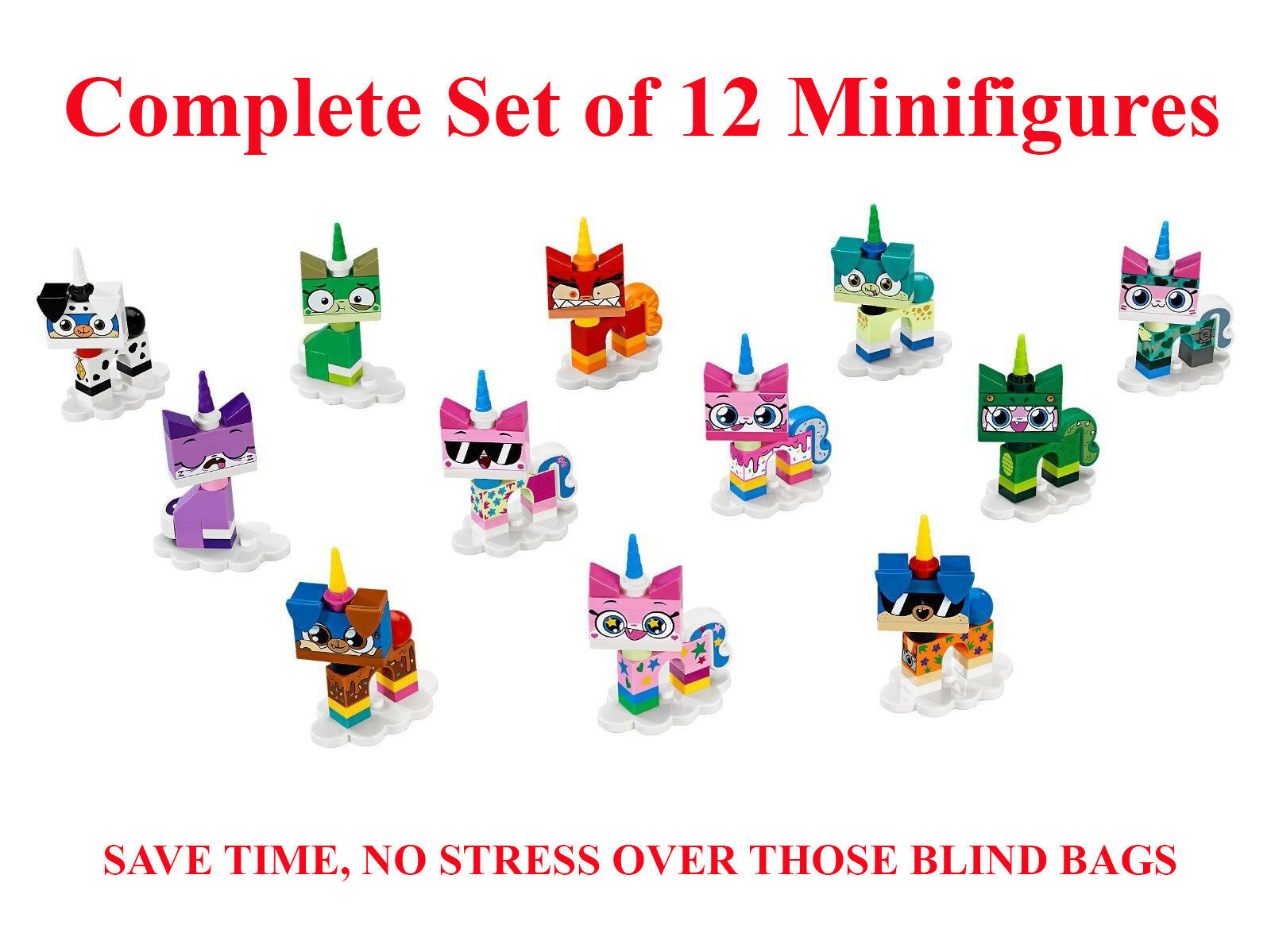 Lego Unikitty Series 1 Complete Set of 12 Minifigures - Cartoon Network 41775