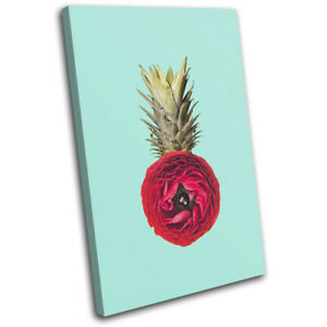 Pineapple-Flower-Concept-Food-Kitchen-SINGLE-CANVAS-WALL-ART-Picture-Print