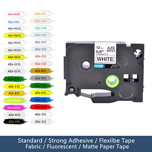 Fits Brother TZ-231 TZe-231 Tapes P-touch Ribbons Cartridges all Colors Labels