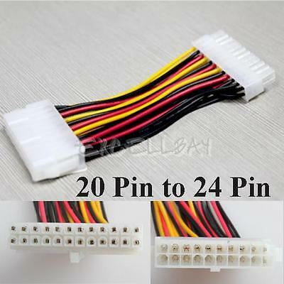 For Laptop PC Computer 20 Pin Male to 24 Pin Female ATX Power Adapter Cable New