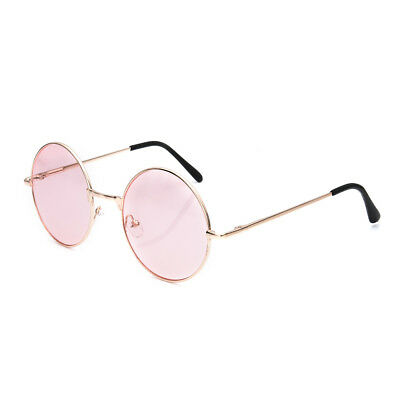 Colorful Retro Round Glasses Lens Women Sunglasses Eyewear Plastic Frame Glasses