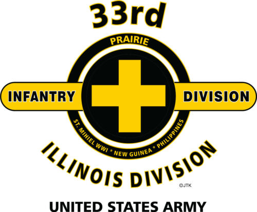"37TH INFANTRY DIVISION /"" BUCKEYE DIVISION/"" WHITE SHIRT DESIGN ON FRONT"