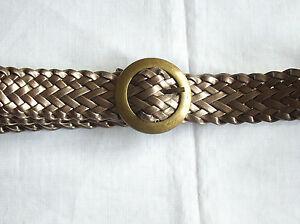 ceinture tressée dorée cuivrée   eBay 6eeff24d759