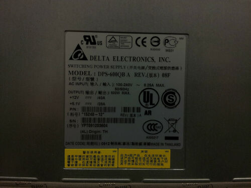 SWITCHING POWER SUPPLY 15240-12 DELTA DPS-600QB A